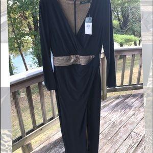 Ralph Lauren Black/Gold Formal Dress
